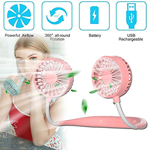 Thole Handheld Nebulizzatore Ventilatore Portatile USB Piccolo Con 3 Impostazioni Vapore Facciale Potente Ventola Ricaricabile Raffreddamento Personale,Pink