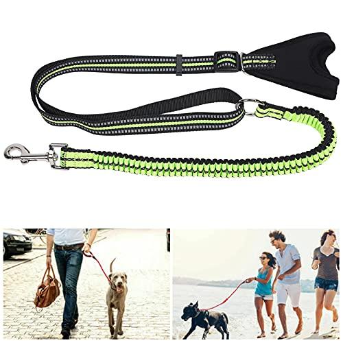 FOLOSAFENAR Cuerda de tracción Reflectante, Gran Capacidad de Carga Correa antipérdida para Perros Resistente y Duradera con diseño de Hebilla para Mascotas para Trotar para Caminar(Green, S)