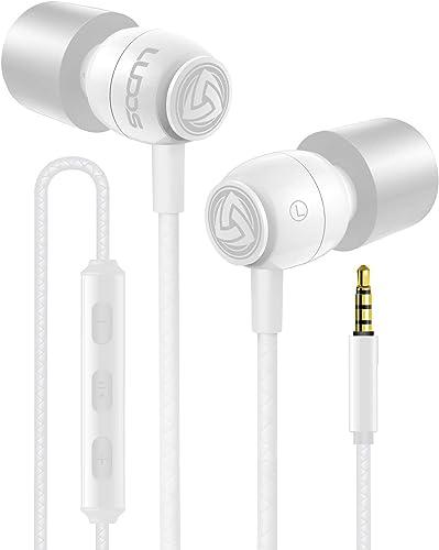Écouteurs Intra Auriculaires - LUDOS Clamor Écouteur avec Microphone et Audio Haute Qualité, Mousse à Mémoire de Form...