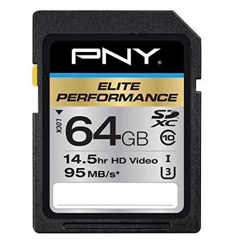 PNY 64 GB Elite Performance Class 10 U3 SDXC cartão de memória flash