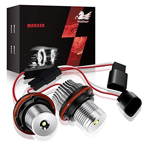 Win Power 10W Auto Scheinwerfer Angel Eyes Birne Halogen-Umrüstsatz kein Fehler CanBus Positionslichter 6000K Xenon weiß E39 E53 E65 E66 E60 E61 E63 E64 E87 E83 X3, 2 Stücke