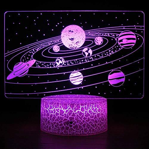 Lámpara De Ilusión De Universo 3D Luz De Noche Led Alimentado Por Usb 7 Colores Escenas Intermitentes Interruptor Táctil Decoración De Interior Óptica Iluminación Proyector De Estrella