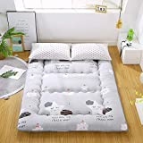 materasso futon giapponese da pavimento tatami mat materasso portatile,materassino per bambini,grey-90cmx200cm