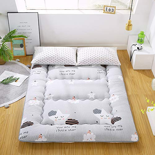 Materasso Futon Giapponese da Pavimento Tatami Mat Materasso Portatile,Materassino per Bambini,Grey-120cmx200cm