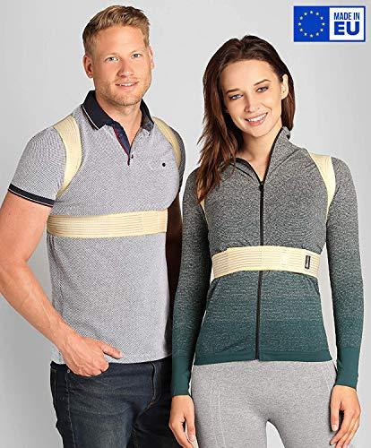 BeFit24® Deutschland - Made in EU - Einfach und zuverlässig Geradehalter zur Haltungskorrektur für Damen und Herren - für einen aktiven Lebensstil trotz sitzender Arbeit - Size 4 - Beige