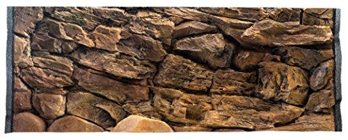 RETNE 3D Aquaria achterwand, 120x50cm, steen
