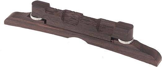 Musiclily 114mm Rosewood Adjustable Compensated Mandolin Bridge Set