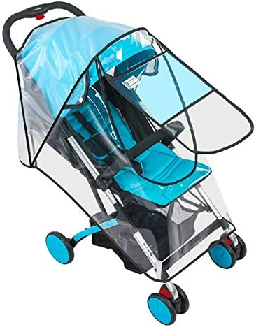 Siravic Stroller Cover Clear EVA Stroller Rain Cover Universal Baby Travel Weather Shield Protects product image