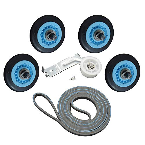 Price comparison product image Upgraded Dryer Repair Kit for Samsung Belt Maintenance Kit Includes DC97-16782A Drum Roller DC93-00634A Idler Pulley 6602-001655 Belt Replace AP5325135 AP4373659 PS4221885 PS4133825 AP6038887