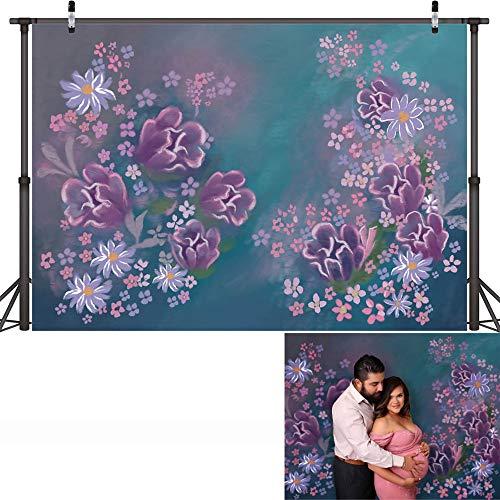 Fondo de fotografía de Retrato de bebé recién Nacido Floral Textura Abstracta Fondo de cumpleaños de Flores Estudio fotográfico A11 10x7ft / 3x2,2 m