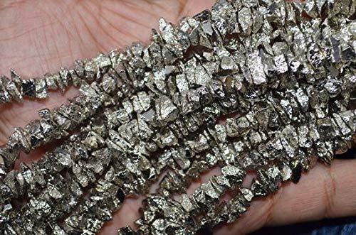 LKBEADS AAA calidad titanio gris pirita virutas ásperas 5 a