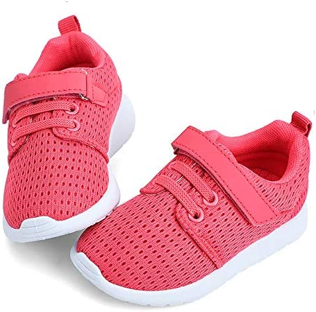 hiitave Toddler Girl Shoes Cute Sneakers Breathable Tennis Shoes for Walking Trail Running School product image