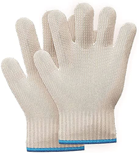 KAKKI Oven Glove Heat Resistant Easier Grasping Of Hot Plate With Fingers Non Slip Mitts For Handling Hot Surface For Cooking, Kitchen, Fireplace Grilling Heat Resistant