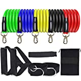 Trooer Resistance Bands Set for Home Workout Fitness Exercise Bands with Handles, Carry Bag, Door Anchor Attachment and Ankle Straps