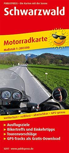Schwarzwald: Motorradkarte mit Ausflugszielen, Einkehr- & Freizeittipps und Tourenvorschlägen, GPS-Tracks zum Gratis-Download, wetterfest, reißfest, abwischbar, GPS-genau. 1:200000 (Motorradkarte: MK)