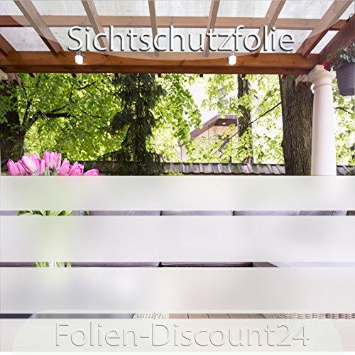 (EUR 5,30 / Quadratmeter) F-D24 Fensterfolie 100 cm x 100 cm Sichtschutz | Klebefolie in Milchglas-Optik für Fenster, Sichtschutzfolie Sonnenschutz-Folie