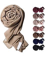Voile Chic 8 Colors Premium Chiffon Wrap Head Scarf (Non-Slip)