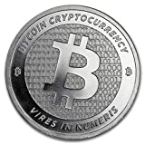1 Troy Oz .999 Silver Cryptocurrency Bitcoin Round Private Mint uncirculated in Protective Capsule