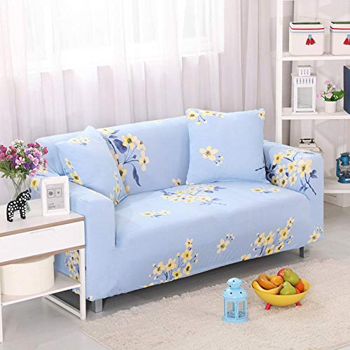 HXTSWGS Universal Sofa Slipcover,Stretch sofa cover, stretch fabric, furniture protection cover-Blue 2_145-185cm