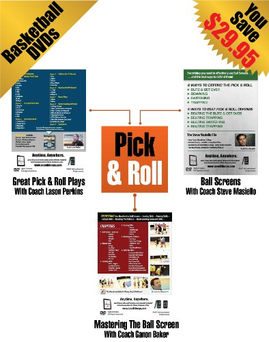 Brand New - Pick & Roll Basketball Training - 3 Pack Lot Of Youth Coaching DVDs