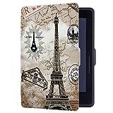 Huasiru Peinture Étui Housse Case pour Amazon Kindle Voyage (7ème Génération) 6 Pouces Cover, Tour Rétro