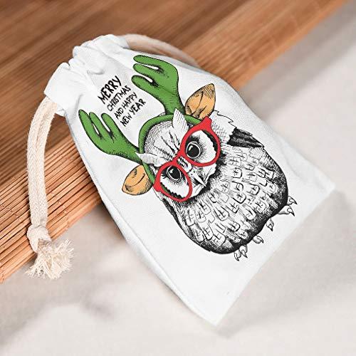 O5KFD & 8 12-pak voor 12 drawstring canvas trekkoord tas ademende snoeptas voor Kerstmis party geschenk wrap tas - stijl gedrukt 20 * 25cm wit