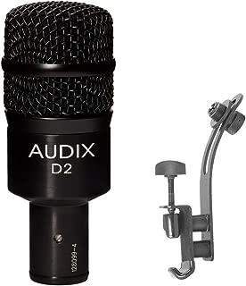Audix D2 Dynamic Instrument Microphone with DM50 Drum Rim Microphone Clip Bundle