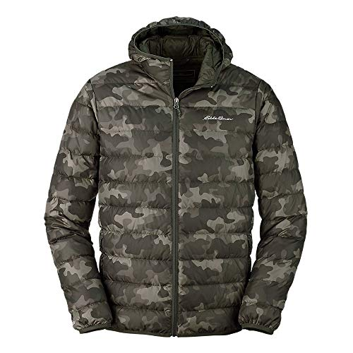 Eddie Bauer Men's CirrusLite Down Hooded Jacket, Camo Regular S