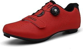 TFNYCT Zapatillas de Ciclismo Antideslizantes, Zapatillas de Bicicleta de Carretera y Montaña de Fibra de Carbono Transpir...