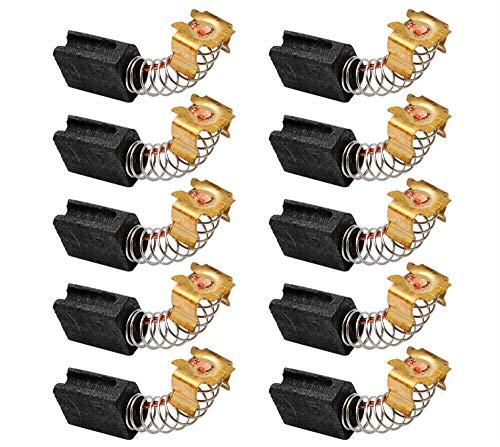 Cepillos de carbono para motor, reemplazo de cepillo de carbono SENRISE, herramienta eléctrica para amoladora angular eléctrica (10 unidades, modelo No.CB419)