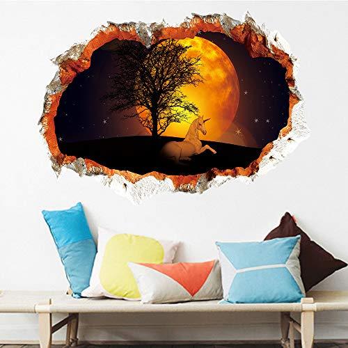 Martin Kench 3D Wandtattoo Kinderzimmer | Wandbilder: 70x50 cm | Wand-Aufkleber Sticker Poster Einhorn Unicorn | Deko für Babyzimmer Mädchen-Zimmer Prinzessin (KSD8843)