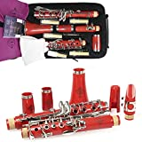 Best Student Clarinets - Rochix Clarinet Beginner Student Level E16 Red B Review