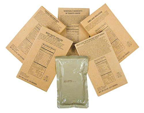 Captain Dave's Case of 12 MRE Entrees from Meals Ready to Eat by