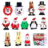 Max Fun 12 Pcs Christmas Stocking Stuffers Wind Up Toy Assortments for Christmas Party Favors Goody Bag Filler (Christmas Wind up Toys 2)