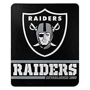 Northwest NFL Oakland Raiders 50x60 Fleece Split Wide DesignBlanket, Team Colors, One Size, Model:1NFL031040019RET by Caseys-Distributing