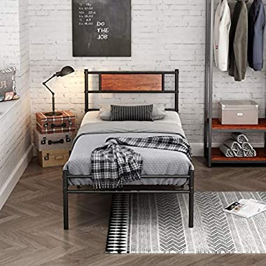 FSTAR Twin Size Bed Frame 12.7inch Platform with...