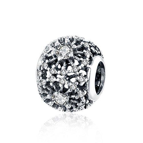 Nykkola Colgante vendimia grano de plata de ley 925Swarovski de cristales que se ajustan a la pulsera Pandora