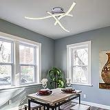 ALLOMN Plafonnier LED, Lampe de Lustre Plafonnier Design Moderne Courbé avec 3 PCS Agité Lumière Pour le Salon Chambre Salle à Manger (Courbé 21W Blanc Chaud)