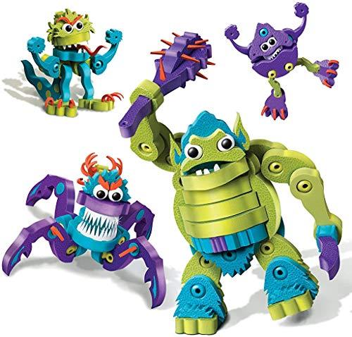 Bloco Toys Ogre & Monsters | STEM Toy | DIY Building Construction Set (280 Pieces)