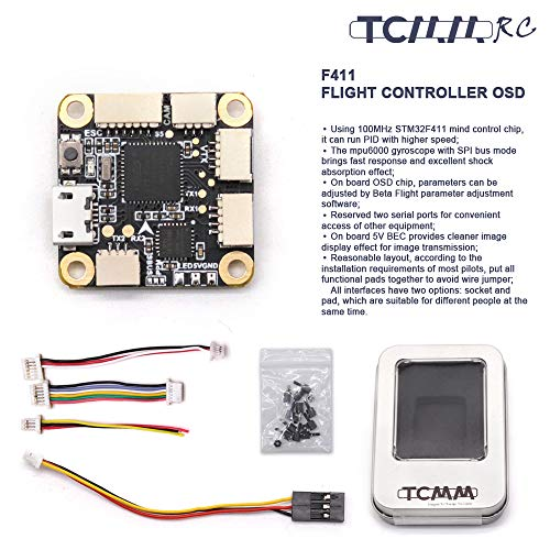 TCMMRC FC F4 Flight Controller 2-6S OSD BetaFlight 20x20mm for FPV Racing Drone