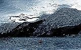 Fotomurales 3D Papel Pintado Pared Agua De Río De Pico De Montaña Abstracta...
