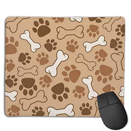 Mousepad Huellas de Perro y Moda de Huesos. Alfombrilla de ratón para Juegos Alfombrilla de Goma para ratón, Adecuada para el Trabajo, Juegos, Oficina, hogar, Juegos rápidos y precisos, 25x30cm