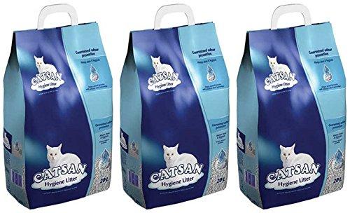 3x 20L Catsan Hygiene nicht klumpendes Katzenstreu AVSL Bügelkopfhörer