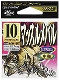 ささめ針(SASAME) マッスルメバル ブラック MM-05 10号