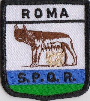1000 Flags Aufnäher mit italienischer Flagge Rom Roma, bestickt (a126)