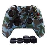 Hikfly Silicona Gel Control de Aceite de Goma Cubierta de Piel Protectora Caso Faceplates Kits para Xbox One Control Juegos de Controladores(Azul claro)