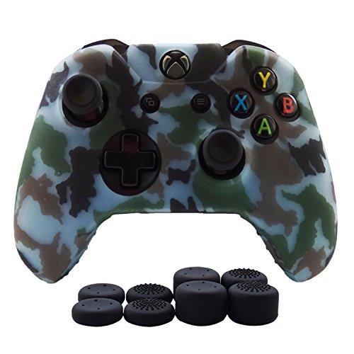 Hikfly Silikon-Controller-Abdeckung, für Xbox One/Xbox One S/Xbox One X Controller Videospiele Xbox One Print Style hellblau