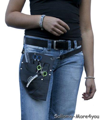 Friseur - Werkzeugtasche Farbe: schwarz Echt Leder