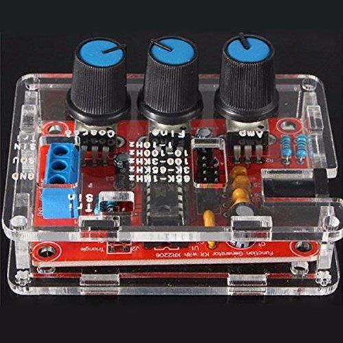 HALJIA XR2206 DC 9V-12V Generador de señal de la función Onda de Seno Onda Cuadrada Salida de Onda Triangular 1Hz-1MHz DIY Kits