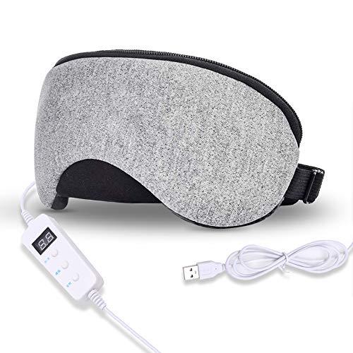Máscara de Ojos Térmica Para Blefaritis, Máscara de Masaje USB Algodón con...